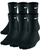 Nike Everyday Cotton Cushioned Athletic Crew Socks Dry-Fit Mens 8-12 6-Pack