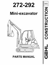 Gehl 272 292 Mini Excavator Service Parts Manual 2001 8540