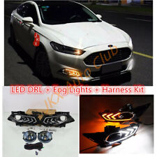 LED DRL Turn Signal Light LED Bulb Fog Wire o Kit For Ford Fusion Mondeo 13-2016