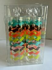 NEW in Pkg BPA Free 4 Piece Set Ice Tea Tumblers - Glasses With Stirrers