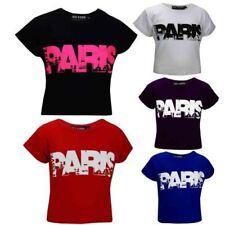 Vêtements t-shirts en polyester pour fille de 7 à 8 ans