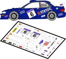 DECALS 1/43 SUBARU IMPREZA WRC  #6 - TURSKI - RALLYE BARBORKA 2002 - MFZ D43003