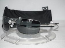 NEW OAKLEY POLARIZED SQUARE WIRE SUNGLASSES OO4075-04 Carbon / Grey Polarized