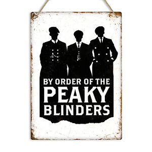 BY ORDER PEAKY BLINDERS Vintage Metal Wall Sign Plaque Man Cave Pub Bar Shelby