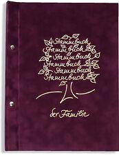 A4 Stammbuch der Familie Borbol, Familienstammbuch Stammbücher Din A4
