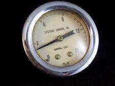 VINTAGE SYSTEMS CONTROL Pressure Gauge face mount 0 to 15 RARE!