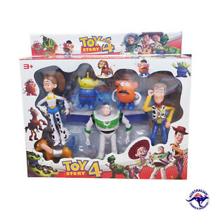 6PC Toy Story 4 Figurine Set Collection Kids Toy Buzz Lightyear Woody Potato Hea