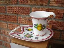 LEONARDO Collection Tazza e Piattino/Piastra Decorato con frutti estivi.