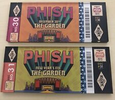 Phish Rare Ptbm Ticket Stub Magnet Lot Of Two Nyc Msg Nye 12/30 And 12/31/17