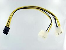 6Pin PCI Express (F) to Dual 4Pin Molex (M) Adapter Cable , 12inch