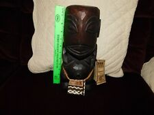 """12.5"""" Wood Fisherman's Good Luck God Signed Serial # 113 The Hawaii Collection"""