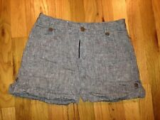Patagonia size 2 Women's Grey Cuffed Linen Shorts ~ Hemp and Cotton