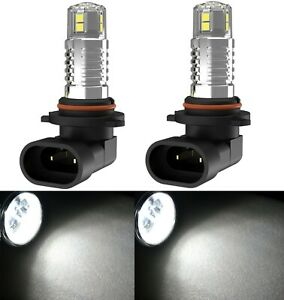 LED 20W 9005 HB3 White 4300K Two Bulbs Head Light High Beam Replacement Show Use