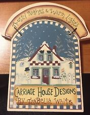 CHRISTMAS PLAQUE WOODEN FROSTY NIGHTS & WARM LIGHTS  BY TSABELIA WHITE