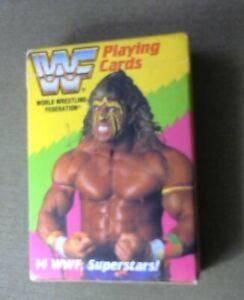 Vintage 1991 NEW WWF WORLD WRESTLING FEDERATION SUPERSTARS DECK PLAYING CARDS