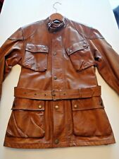 Belstaff The Panther In Brown Signature Hand Waxed Leather Jacket Color Cognac