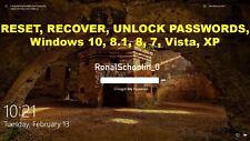 Windows Password Unlock, Recovery, Reset & Remove - CD for Windows 7, 8 & 10