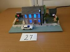 hands made  Diorama house with backyard included car model