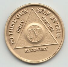 IV Year - 4 Years - Alcoholics Anonymous AA recovery medal token chip coin