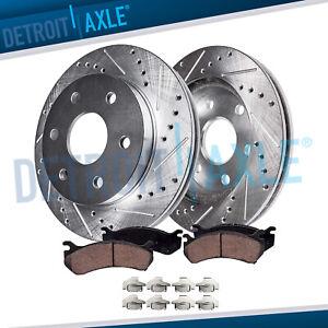 Front Drilled Brake Rotors & Ceramic Pads Chevy SILVERADO 1500 GMC SIERRA 1500