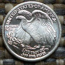 Walking Liberty Silver Round 1/10 Unze OZ Onza  0,1 Unze Silber .999