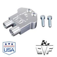 Air Compressor Manifold Ac Line Fitting 90-Degree, Billet, 7B10, Adapter Block