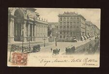 Italy ROME ROMA Via Nationale Palazzo di Belle Arti u/b used 1898 PPC