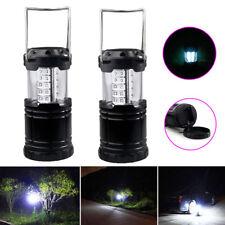 2 Pack Portable 30 LED Outdoor Camping Lantern Bivouac Hiking Fishing Light Lamp