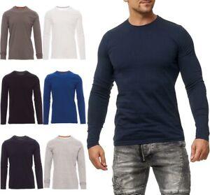 Herren Langarmshirt Longsleeve T-Shirt Langarm Rundhals Top Shirt Sweatshirt