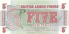 UK ARMED FORCES 5 Pence PM - 47 ~ UNC from 1972; FREE SHIPPING Canada / USA