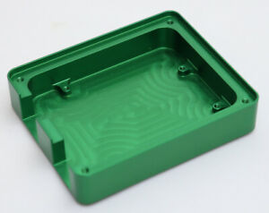 Custom Made CNC Machined Aluminium Green Anodised Arduino Uno Compatible Case
