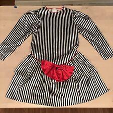 Vintage Isabella Pinstriped Dress Girls Size 8 Holiday Dress VTG Ro Qtv