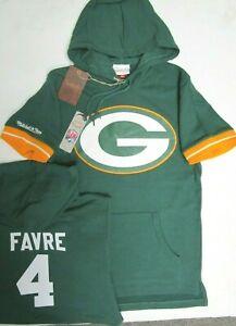 BRETT FARVE GREEN BAY PACKERS Mitchell & Ness Hoody Short Sleeve Jersey