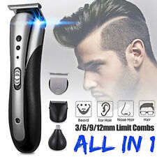 KEMEI 3 in 1 Rechargeable Hair Clipper Electric Trimmer Beard Nose Ear Shaver