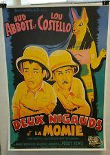 """ Abbott & Costello Meet the Mummy""/ Original French 1 sheet Movie Poster"