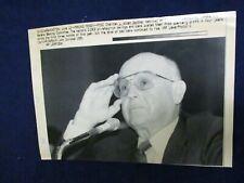 Wire Press Photo 1991 L. William Seidman Senate Banking Committee Washington