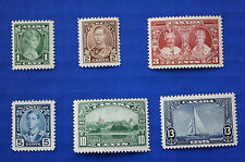 CANADA  (#211-216) 1935 King George V Accession to Throne MNH singles set (lot1)