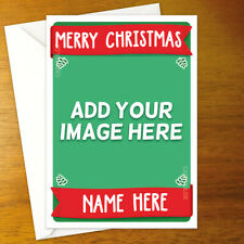 CUSTOM ADD YOUR PHOTO Personalised Christmas Card - personalized xmas holiday