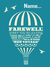 'SORRY YOU'RE LEAVING'' Personalised Card!!! LARGE A5 SIZE!!  ANY NAME!! COOL!!