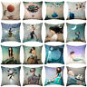 Fashion Cartoon Fairies Pillow Case Cotton Linen Sofa Cushion Cover Home Decor