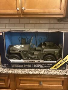 "Estate GI Joe 12"" Soldiers of the World Military Vehicle Willy's Jeep Missin Gun"
