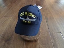 Uss Midway Cv-41 Navy Ship Hat U.S Military Official Ball Cap U.S.A Made