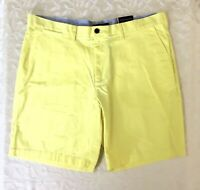 Tommy Hilfiger Mens Shorts size 40 Yellow Flat Front New Walking Casual NWT
