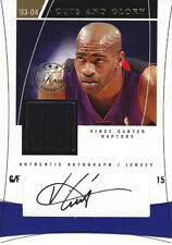 2003-04 #12/15 Vince Carter CUTS AND GLORY Game Used Autograph/Jersey Raptors