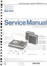 Philips Original Service Manual für Phono 22 GF 661