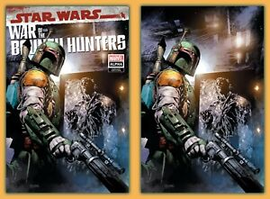 STAR WARS: WAR OF THE BOUNTY HUNTERS ALPHA #1 NM 2021 VIRGIN VARIANT SET! COA!