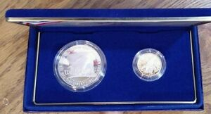 1987 Constitution Coins Proof Silver $1 & Gold $5 Dollar Commemorative (004)