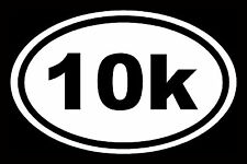 10K Sticker Marathon White Oval Window Decal Vinyl Car Laptop Run 13.1 Euro