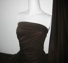 Brown Lycra/Spandex 4 way stretch Finish Fabric