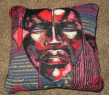 Ancestral Spirits ~ African American Tapestry Square Pillow ~ Larry Poncho Brown